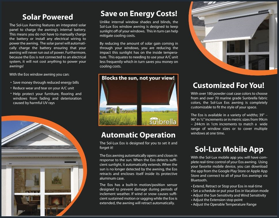 Smart Awnings Brochures